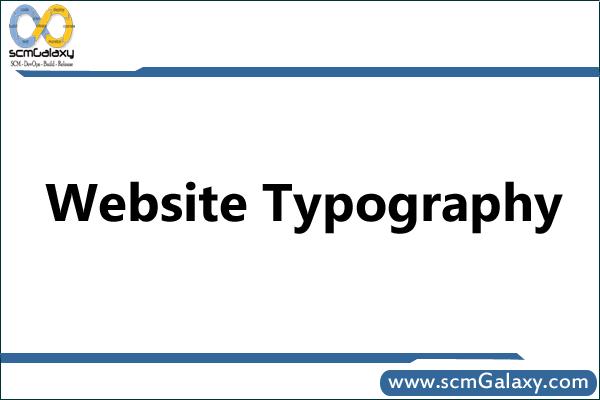 website-typography