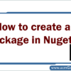 create-a-package-in-nuget